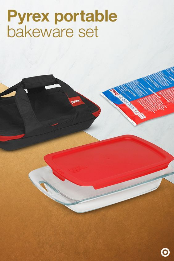 Pyrex  Piece Glass Portable Bakeware Set
