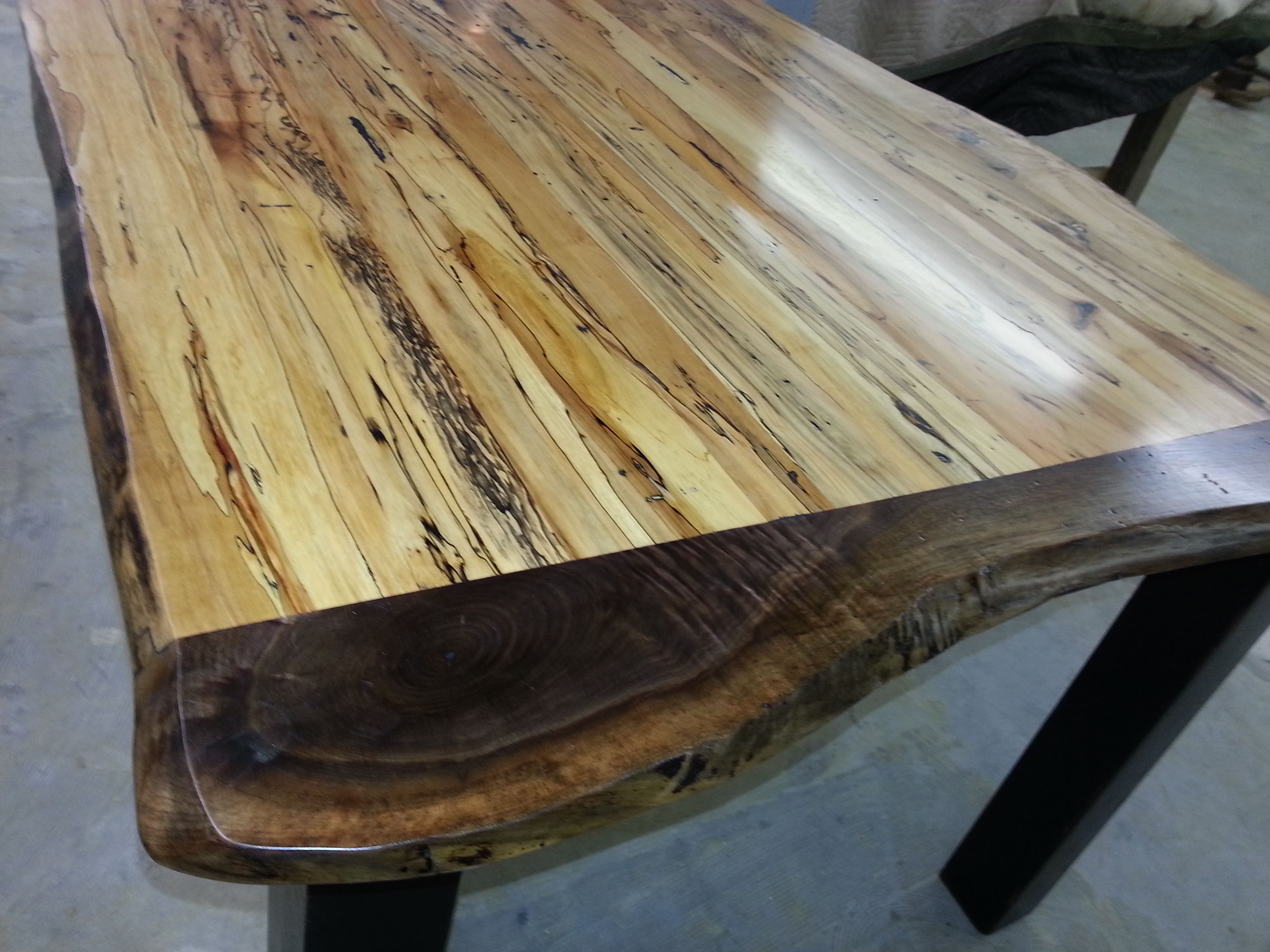 Spalted Maple Black Walnut Table Cherry Furniture Live Edge