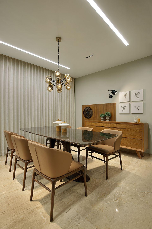 24k A T Associates Dining Room Contemporary Home Design