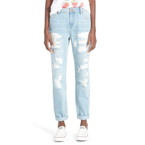 Junior Fire Distressed Boyfriend Jeans (€42) ❤ liked on Polyvore ...