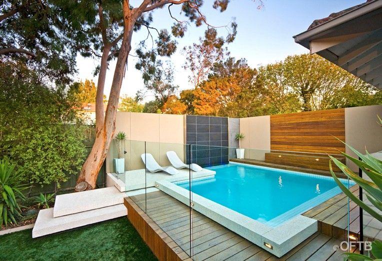 Oftb Concrete Stairs Small Pool Design Small Backyard Pools Luxury Swimming Pools