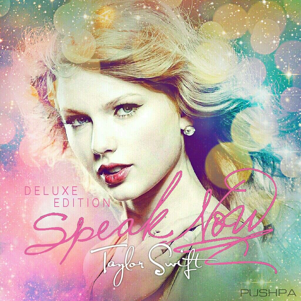 Taylor Swift Speak Now Deluxe Edition cover made by Pushpa