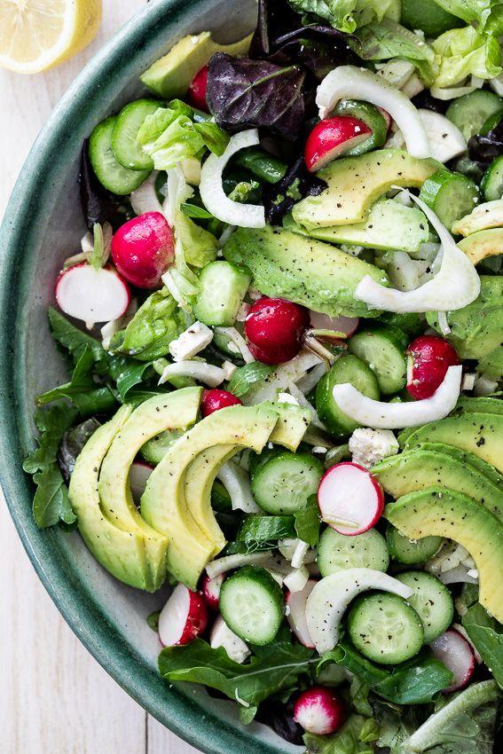 Easy side salad with lemon dressing | Recipe | Side salad ...