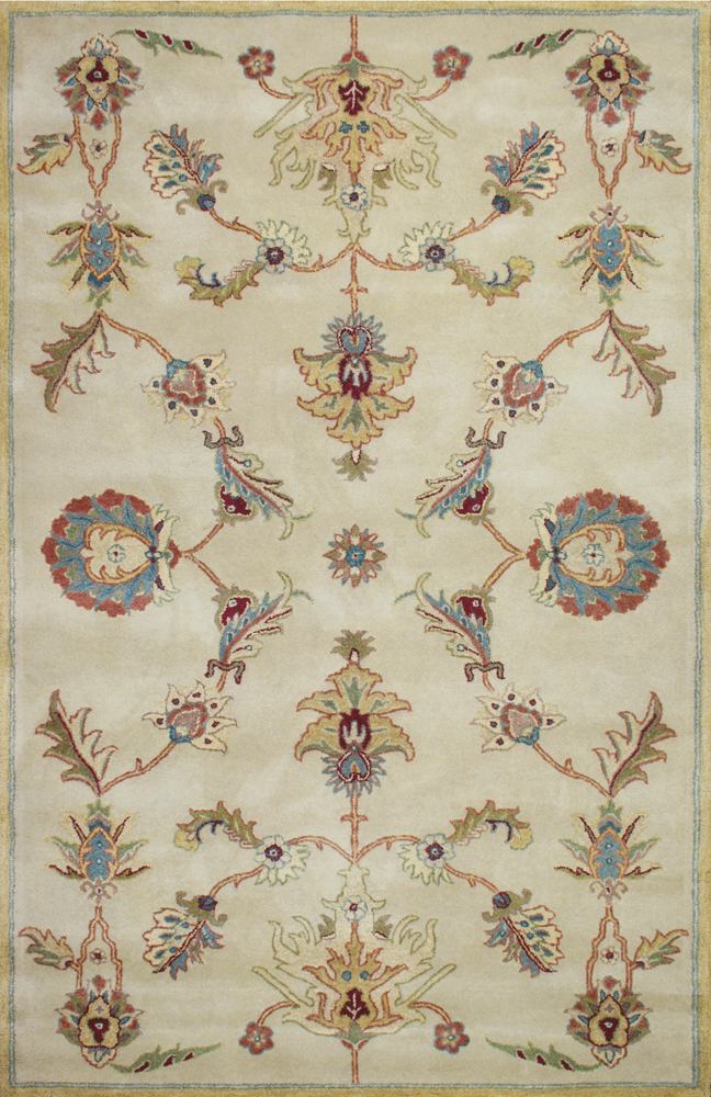 Classic Traditional Pattern W No Border Makes This Capistrano Ct 03 Beige Wool Rug A Transitional Masterpiece Accents Of Blu Rugs Room Size Rugs Beautiful Rug