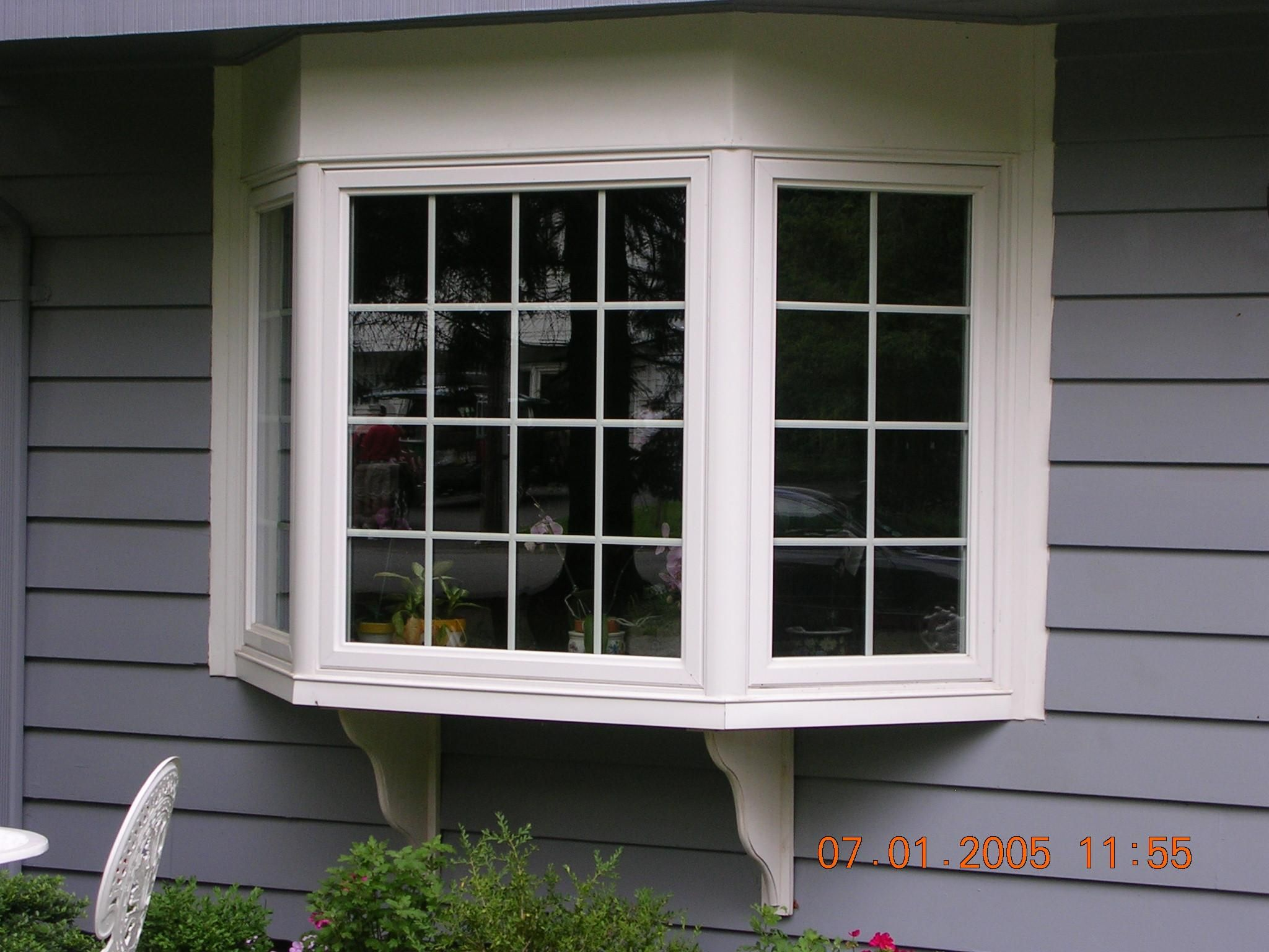 Awesome White Wooden Window Frames Combine With Grey Wooden Wall Paneling  For Bay Window Design Ideas   Bay Window Design Ideas Exterior, Bay Window  Design ...