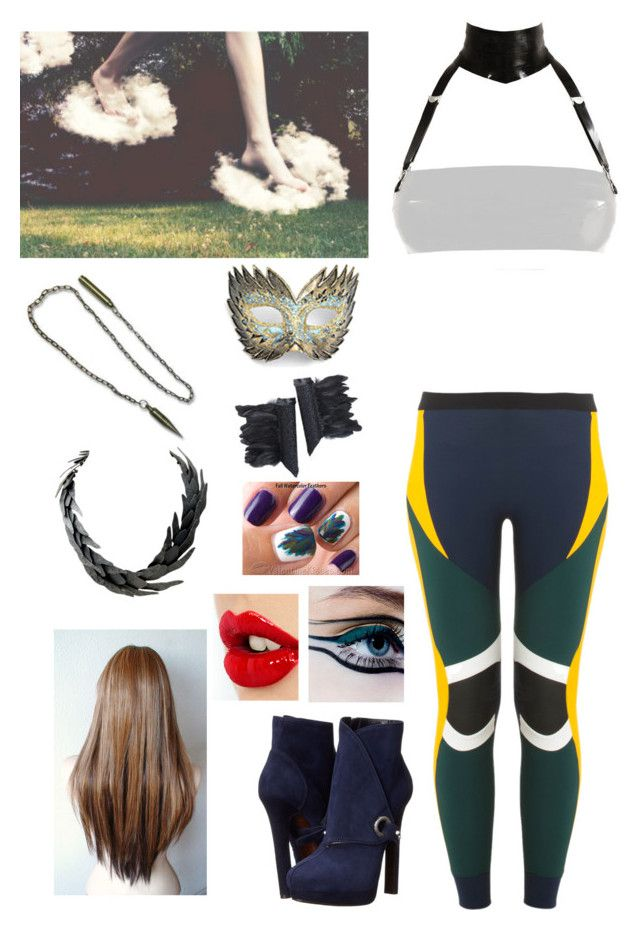 """""""Untitled #1043"""" by tempermental-teen ❤ liked on Polyvore featuring No Ka'Oi, Atsuko Kudo, Alexander McQueen, MAC Cosmetics and Charlotte Tilbury"""