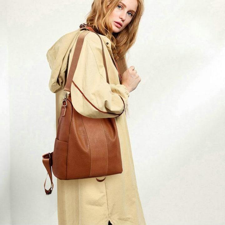 b79ba6633af7 BERAGHINI Retro Leather Backpack Shoulder Bag  bags  bag  handbags  totebag   leatherwork