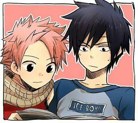 those two are so adorable natdu and gray fairy tail