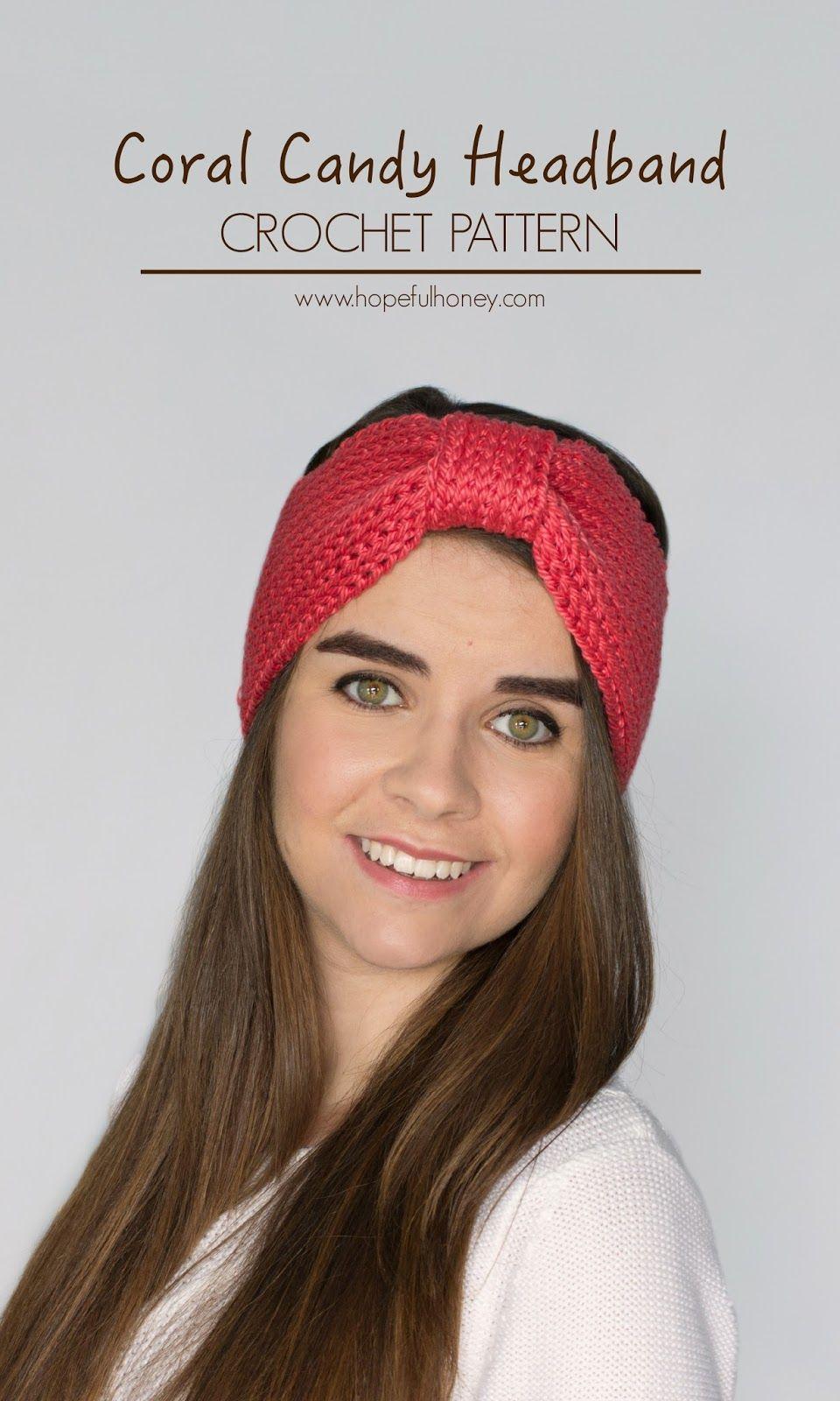Coral Candy Headband Crochet Pattern | Pinterest