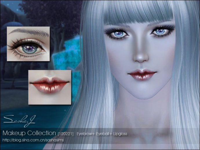 Makeup Set No Replacement Eyes Eyebrows Lip Gloss Sims 3