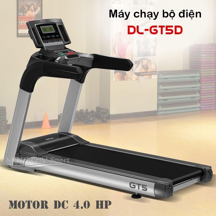 Máy chạy bộ điện DL-GT5D cho gia đình motor lớn 4.0 HP. Máy chạy bộ điện chính hãng Động Lực giá rẻ. Lắp đặt, vận chuyển miễn phí nội thành. LH: 0948 892 678