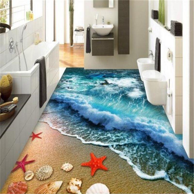 Beibehang Hause badezimmer schlafzimmer boden selbstklebende 3D - boden für badezimmer