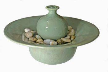 Oriental+Vase+Ceramic+Tabletop+Fountain