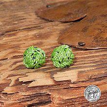 Náušnice - Lezecké bambulky - zelené - 5751801_