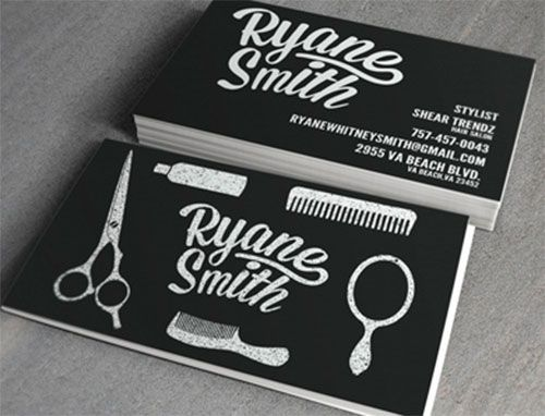 Pix For > Hair Stylist Business Cards Examples | business card ...