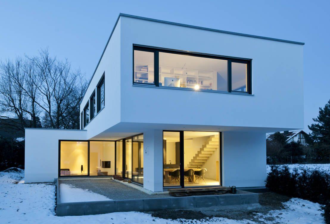 Beton erobert Einfamilienhaus   Moderne häuser, Einfamilienhaus und ...