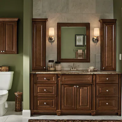 Villa Bath By Rsi Monroe 12 In W X 42 In H X 7 25 In D Cognac Bathroom Wall Cabinet Lowes Com Bathroom Wall Cabinets Kitchen And Bath Remodeling Bathroom Vanities Without Tops
