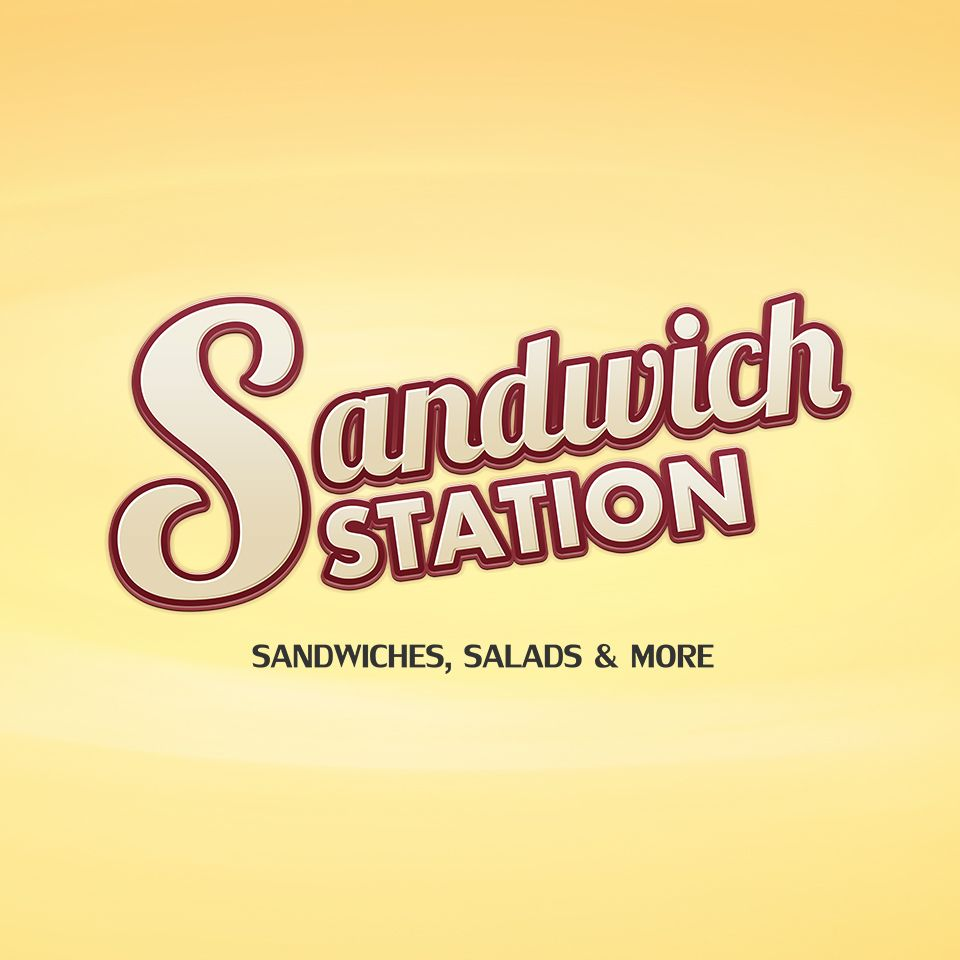 A Wordmark Logo For Sandwich Station Designed By Webdefy Yellow Lights