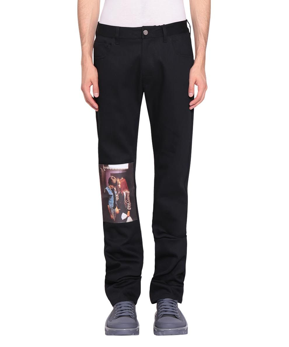 c34ee62286 RAF SIMONS CHRISTIANE F. KISS PATCH JEANS.  rafsimons  cloth