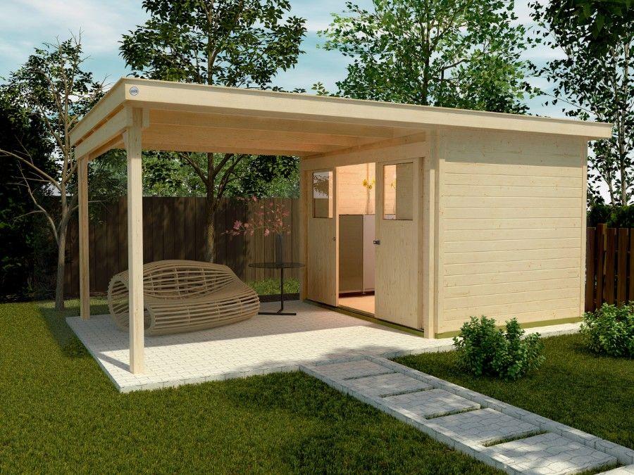 Weka Lounge Haus 225 A Gr 2 21 Mm Gartenhaus Weka Gartenhaus Gartenhaus Mit Terrasse