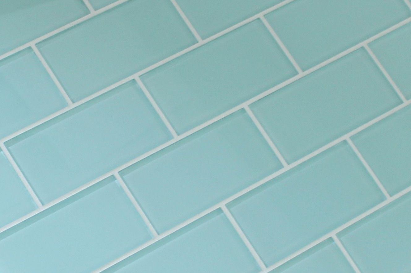 Seafoam 3x6 Glass Subway Tiles   Subway tiles, Glass and High gloss