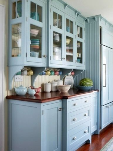 Eyes Catching Kitchen Cabinets Colors Nice Skyblue Kitchen Cabinets - Nice cabinet colors