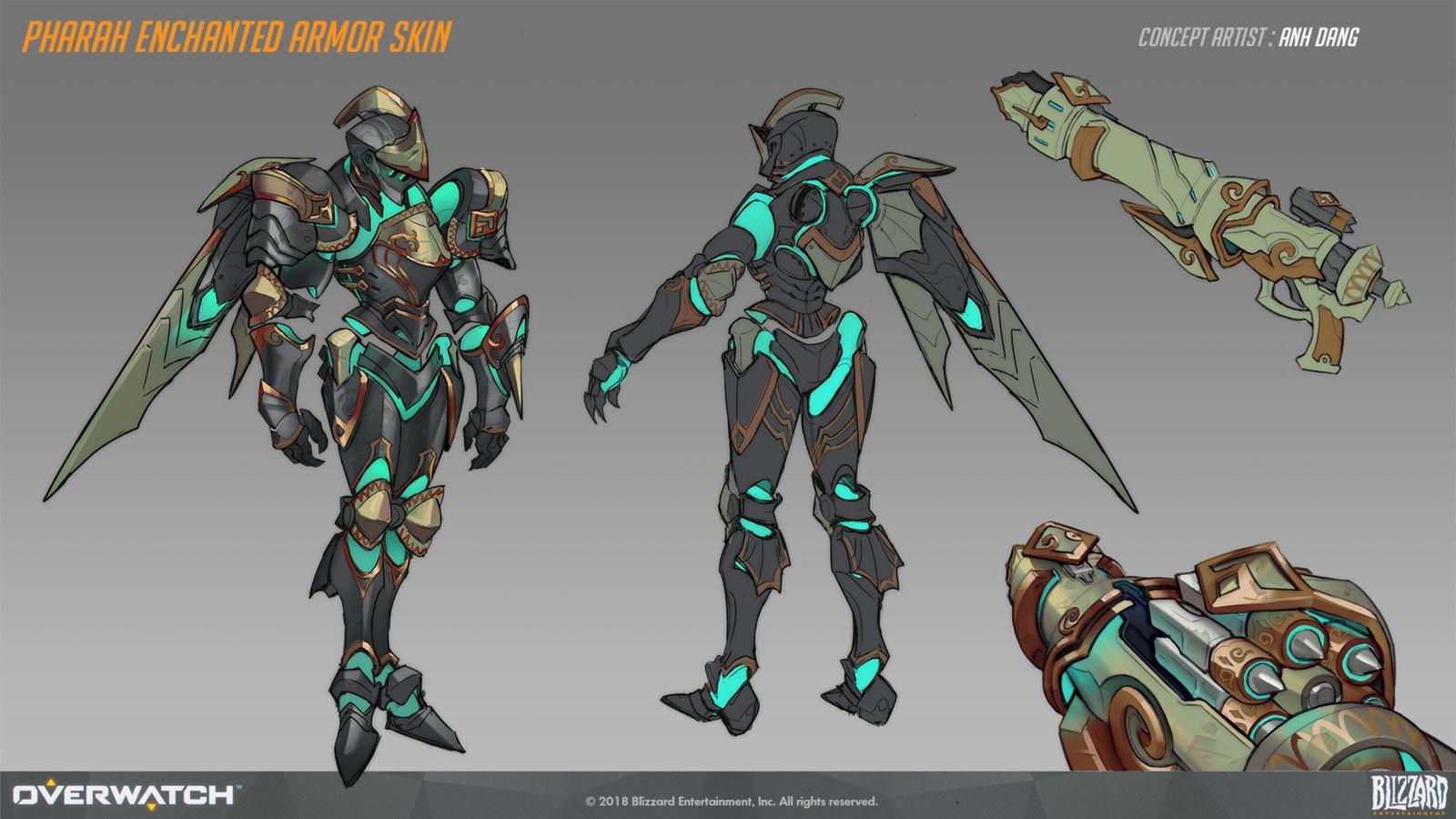 Overwatch Halloween 2020 Pharah Knight Skin Pharah Enchanted Armor Skin Concept, Anh Dang on ArtStation at