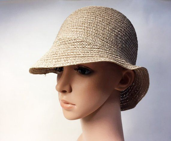 8533b1bcff0 3 French Vintage Cloche Straw Hats - Size 7 1 8 US and 7 UK - Art Deco  Period - 1920s   1930s