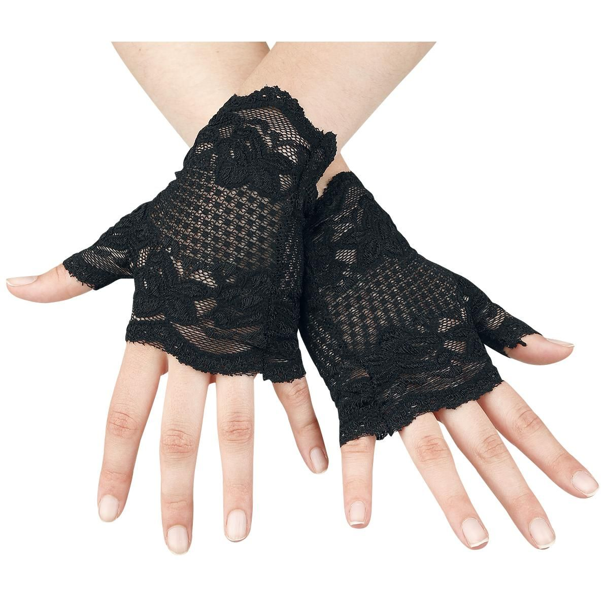 Black Lace Gloves - Queen Of Darkness