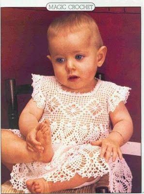Soniando...: Vestido para bebê em crochet
