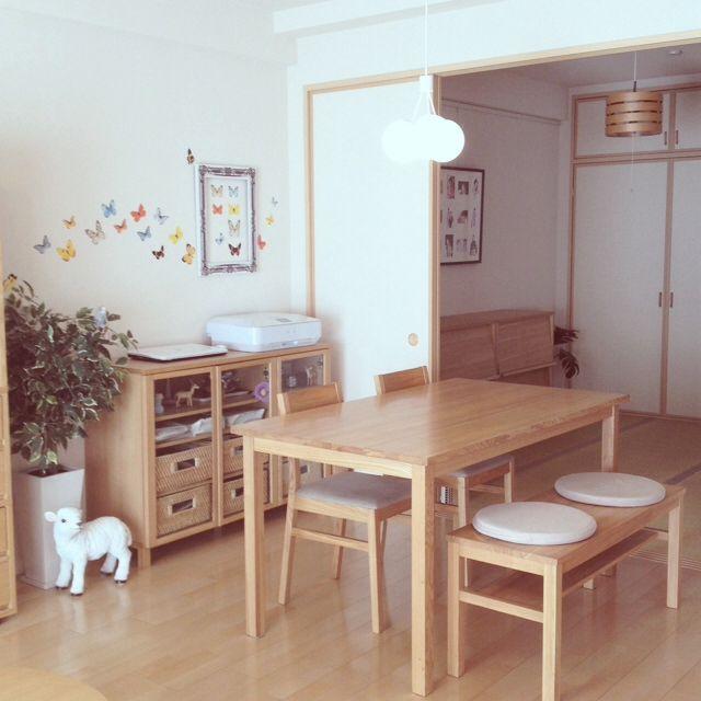 6畳・2DK ・団地の和室の使い方、無印良品でナチュラルなインテリアコーディネートに | RoomCo NAVI