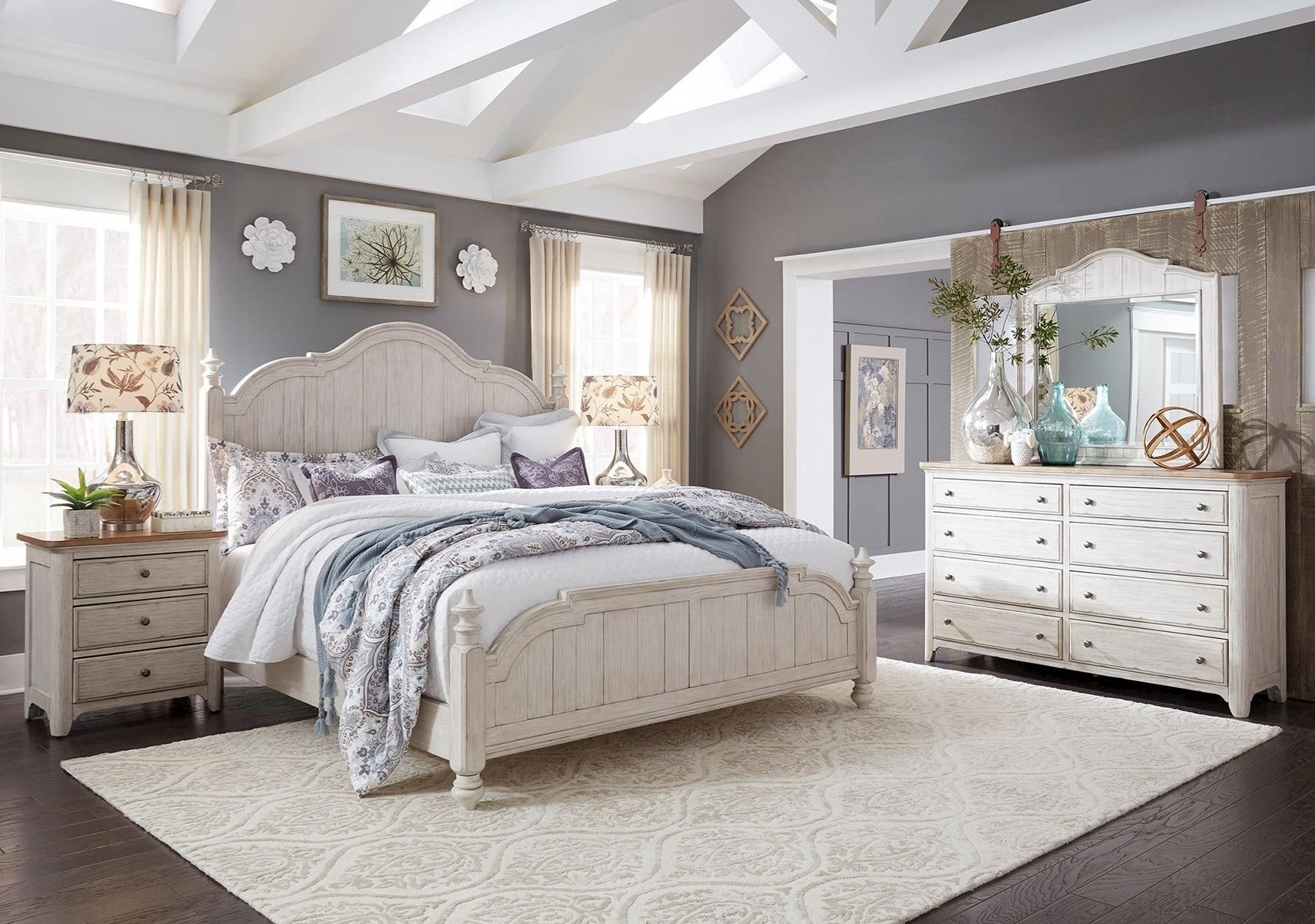 Best Lacks Farmhouse 4 Pc King Bedroom Set With Images 400 x 300