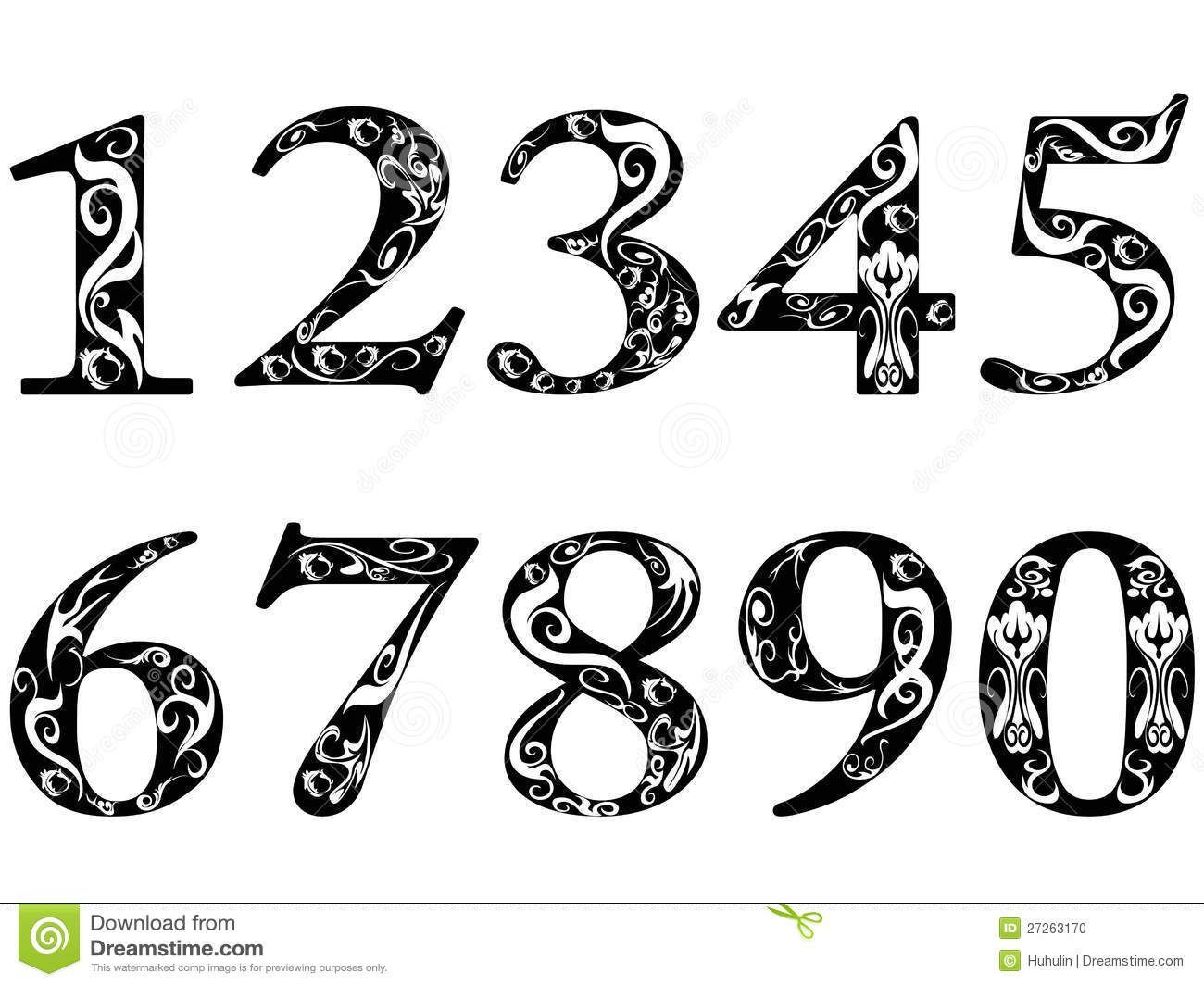 Image result for number fonts free Numbers typography