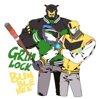 Half human bumblebee and grimlock | Bumblebee❤️ | Grimlock