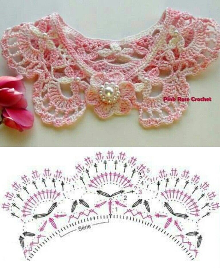 Crochet collar with chart / diagram | nudos | Pinterest | Collares ...