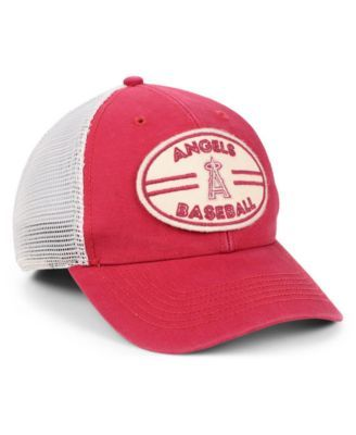 e48731a94232d  47 Brand Los Angeles Angels Hudson Patch Trucker Mvp Cap - Red Adjustable