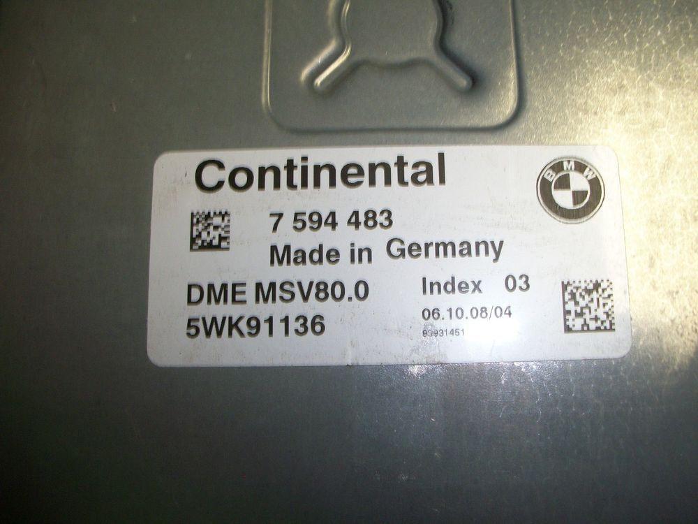 07- 09 #BMW #328I ECM ENGINE COMPUTER MODULE 7 594 483