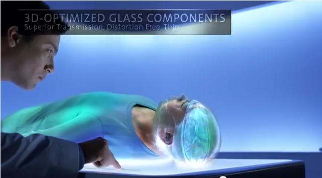 3D optimized glass components