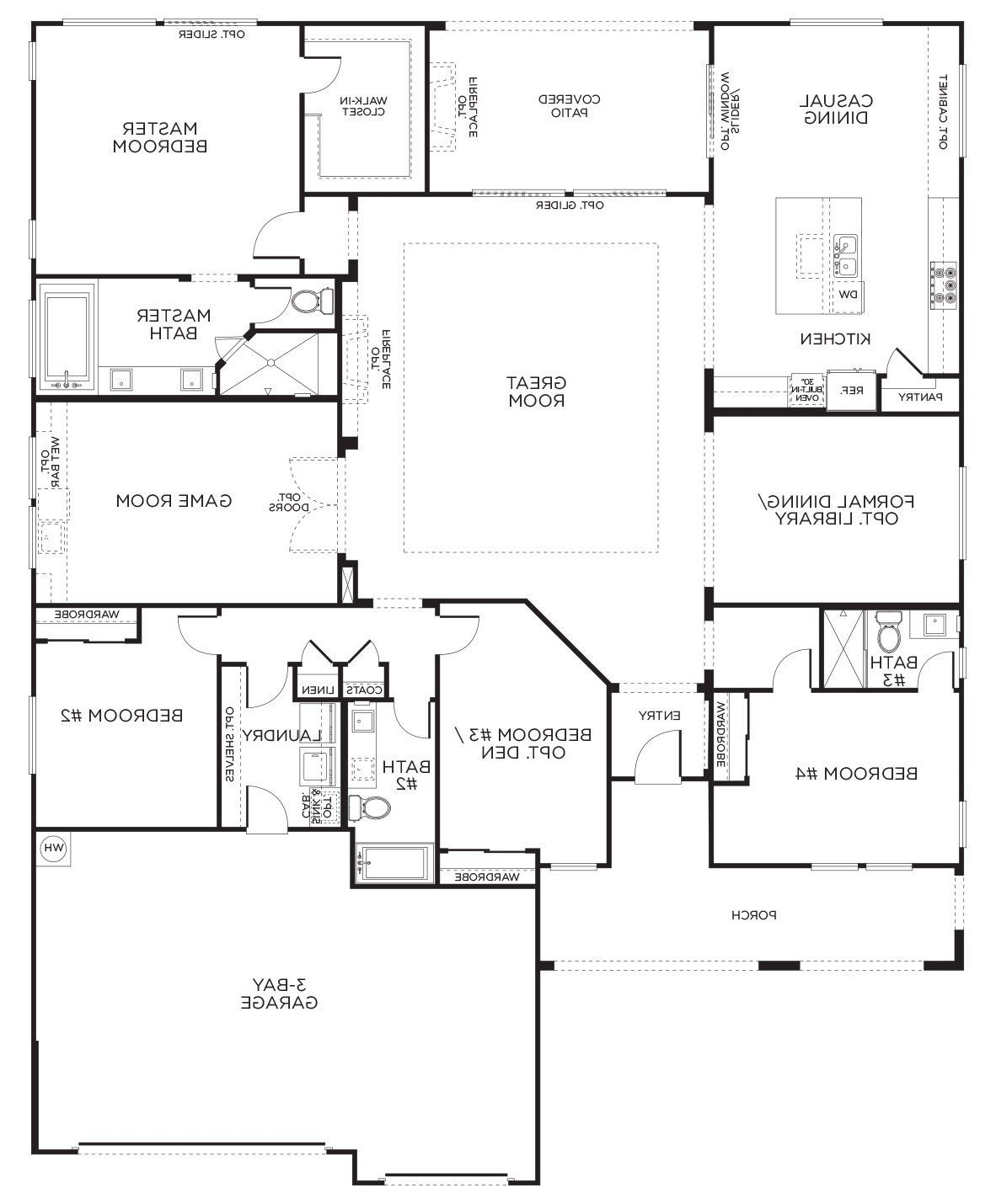 17 Awesome 5 Bedroom House Plans Narrow Lot 5 Bedroom House Plans Narrow Lot Unique 448 Best Icf Home I House Plans One Story Floor Plan 4 Bedroom Pardee Homes