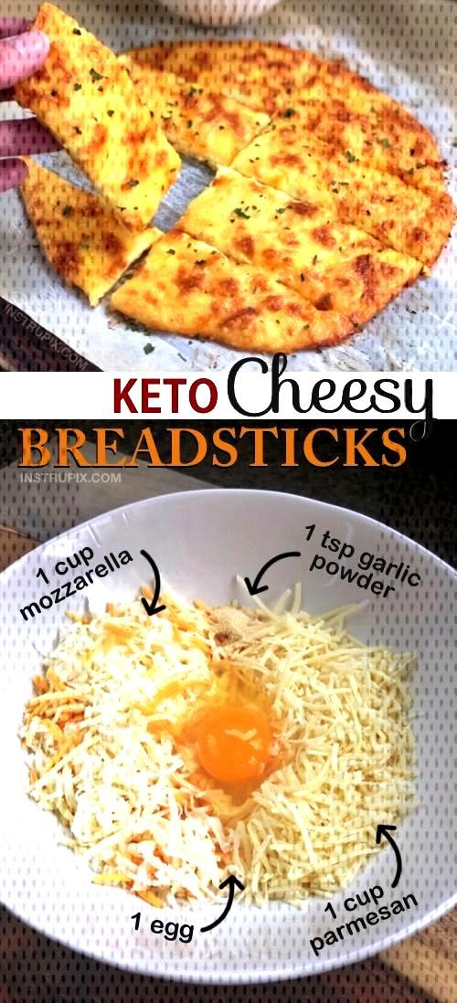Easy 4 Ingredient KETO Cheesy Garlic Breadsticks Recipe | Looking for low carb snacks? This quick a