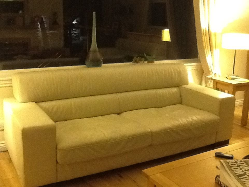 Swell Reids Cream Leather Sofas Three And Two Seater Excellent Pdpeps Interior Chair Design Pdpepsorg
