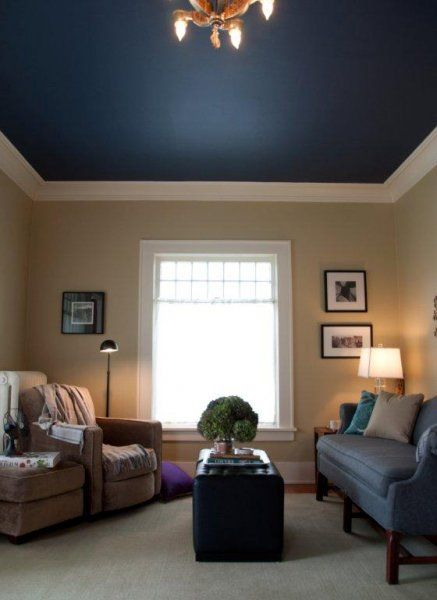 Love This Blue Ceiling Home Colored Ceiling Home Living Room