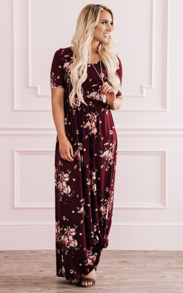 d5a0cd0f86c1 Miranda Dress - Burgundy Floral
