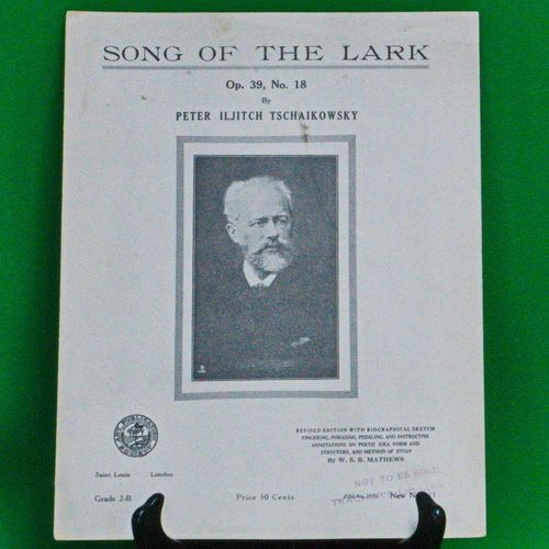 1913 Art Publication Society Teacher's Library Sheet Music, Issue 411