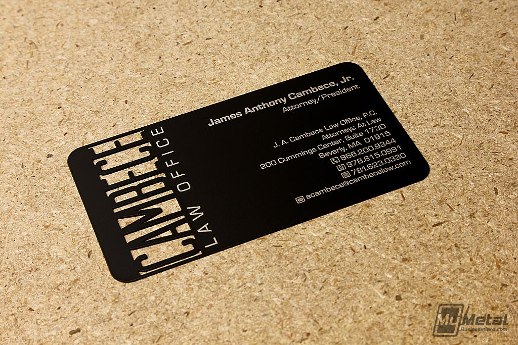 Law Office Business Card by MyMetalBusinessCard.com #diecut ...