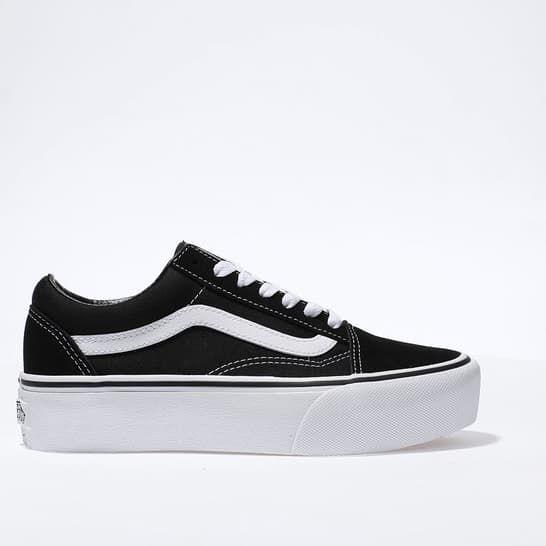 black and white vans junior
