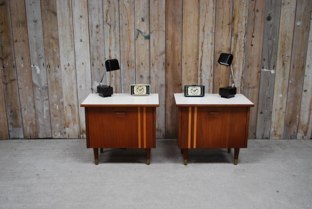 Marktplaats Nachtkastje Wit.Set Van 2 Vintage Nachtkastjes Slaapkamer Nachtkastjes