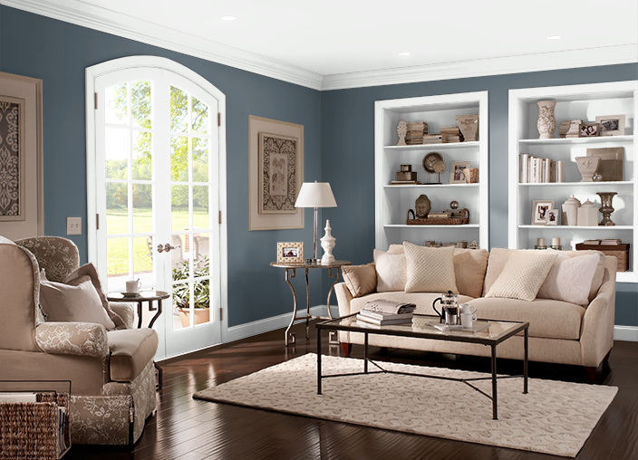 This is the project I created on Behr.com. I used these colors: UNDERSEA(S470-7),