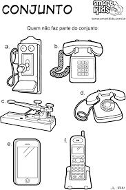 Resultado de imagem para atividades de linha do telefones