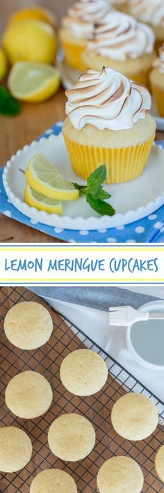 Full of tangy citrus flavor these moist lemon cupcakes provide a perfect vehicle for billowy meringue frosting. A sweet treat for lemon lovers these Lemon Meringue Cupcakes are surprisingly simple to make.